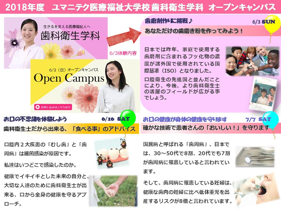 オープンキャンパス広報 2018 DH