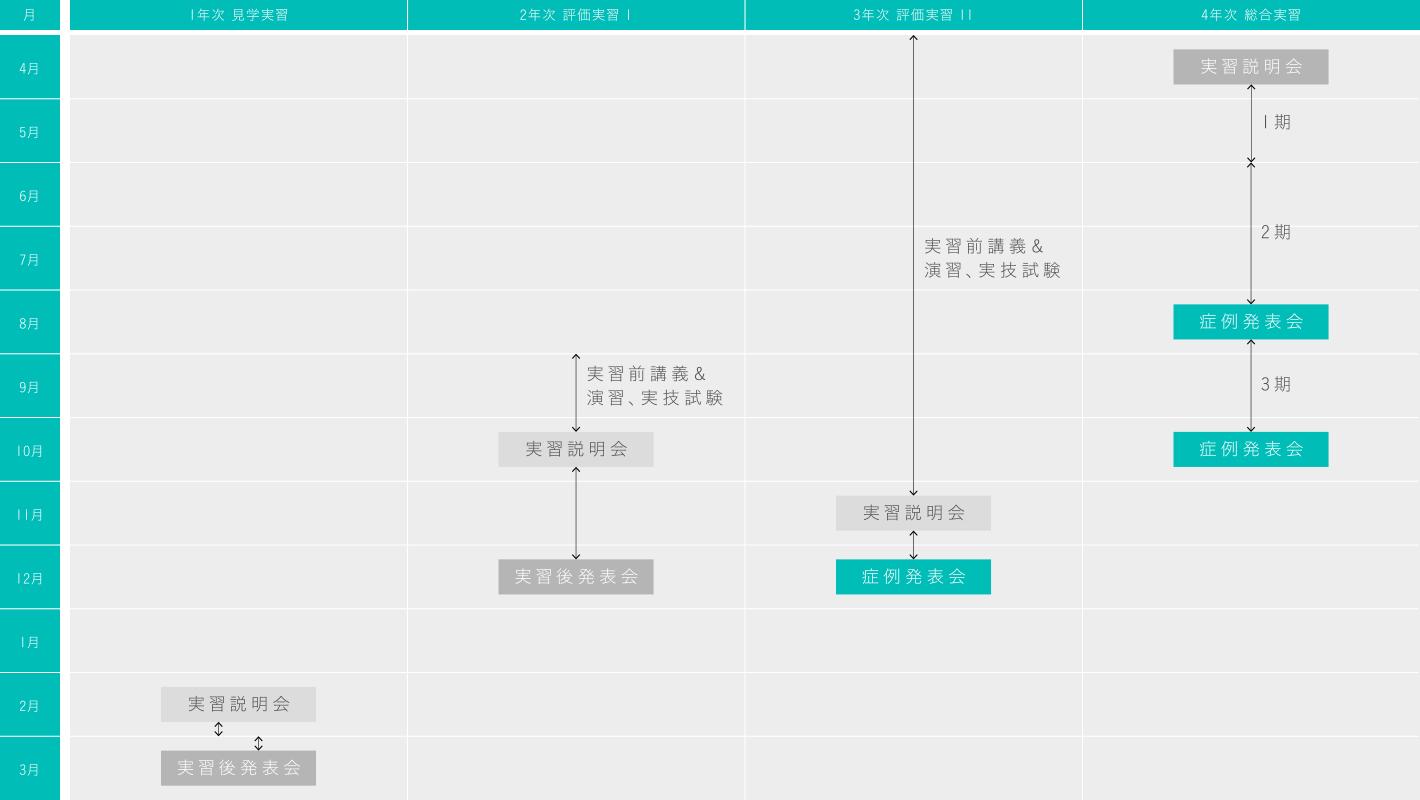 臨床実習期間のグラフ画像